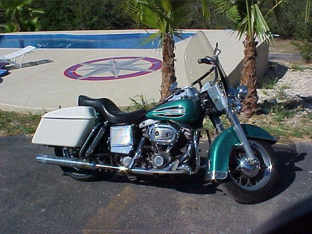 1972 Harley-Davidson FLH Electra Glide Emerald at CarsBikesBoats.com in Round Mountain TX