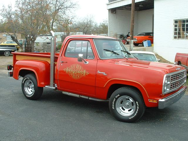 1979 Dodge Lil Red Express   at Lucas Mopars in Cuero TX