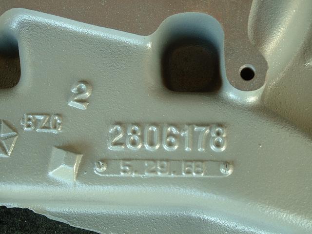 1968 date code intake manifold