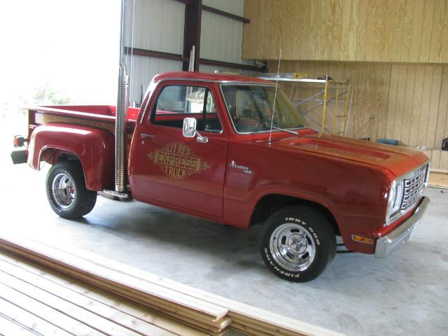 1978 Dodge D150 lil red express at Lucas Mopars in Cuero TX