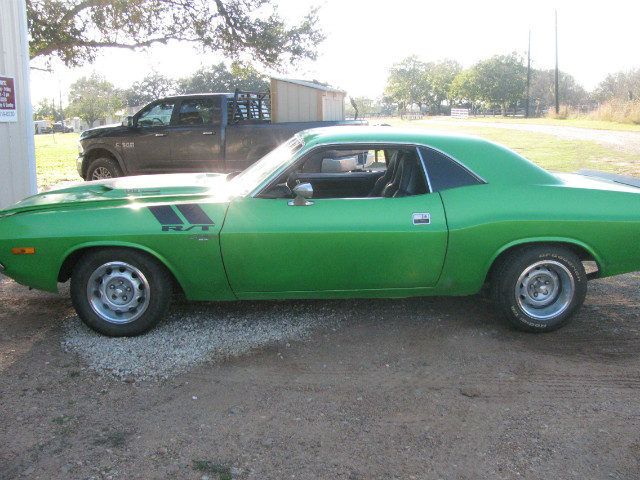 1974 Dodge Challenger rallye at Lucas Mopars in Cuero TX
