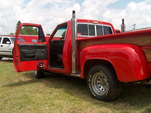 1978 Dodge D 150 LIL RED EXPRESS at Lucas Mopars in Cuero TX
